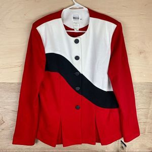 Vintage NWT Leslie Fay Collections Pleated Blazer